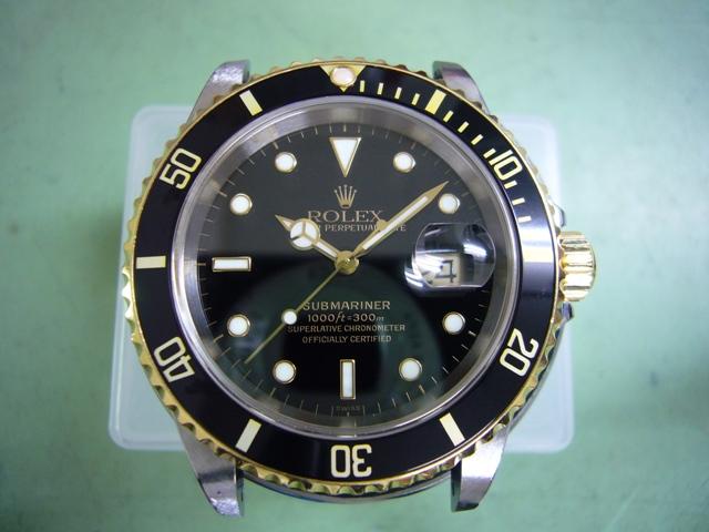 Rolex SubmarinerDate 16613 オーバーホール後