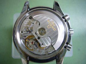 Omegaスピードマスターデイト175.0083修理前