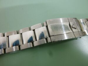 Rolex bracelet 78490 before polishing