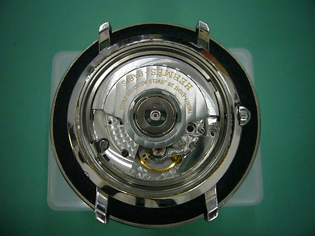 エルメスクリッパーGMTパワーリザーブCL5.710修理前